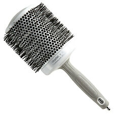"""Olivia Garden Round Thermal Hair Brush 4.25"""" White and Silver CI-80"""