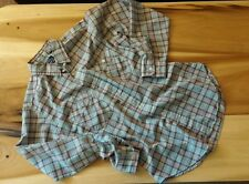 Vintage 70's 80's Levis Plaid Pocket Thin Work Shirt M Hipster Farm Surf CPO