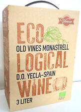OLD VINES MONASTRELL ECOLOGICAL ÖKO ECO WEIN ROT Bag in Box 3 LITER 14%