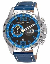 STUHRLING ORIGINAL MEN'S DRESS WATCH CONCORSO LAUREATE 210B.3315C81 LEATHER BAND