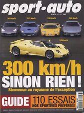 SPORT AUTO n°473 Juin 2001* 110 ESSAIS DE SPORTIVES