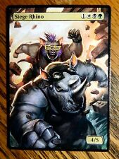 Magic the Gathering MTG altered art Rocksteady and Bebop Siege Rhino