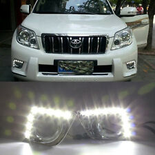 2x LED Daytime Running Fog Light DRL For Toyota Land Cruiser Prado FJ150 2011-13
