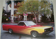 1969 Ford Ranchero truck print (red & yellow, modified)