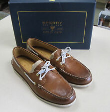 Sperry Top-Sider Gold Cup Authentic Original Burnished Tan 2 Eye Sz13 Boat Shoe
