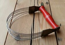 Vintage Nutbrown Pastry Blender 1950s Utensil Red Painted Handle Kitchenalia