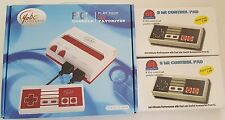 RED/WHITE Video Game System Play NES Nintendo Games + 2 Extra Long 9FT SJ pads
