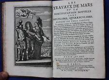 Original antique atlas SIEGE WAR 'LES TRAVAUX DE MARS', A.M. Mallet, 1st ed 1671