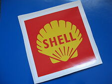 SHELL Red Square Race & Rally sticker/decal x2