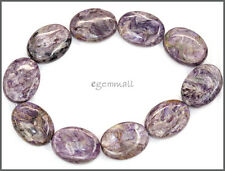10 Russian Charoite Flat Oval Beads 15x20mm #86097