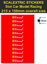 Slot car Scalextric sticker Model Race shell v-power Logo 4 Lego Ferrari decal T