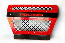 Polaris RZR 1000 Muffler cover grill  powder coated RED