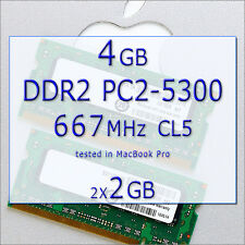 4GB Ram APPLE Mac MacBook/Pro/mini DDR2 667MHz PC2-5300 200 PIN SODIMM 2x2GB
