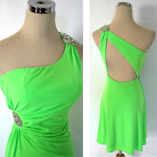 NWT HAILEY LOGAN $90 Bright Green Party Prom Dress 3