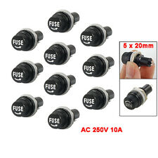 10 Pcs Electrical Panel Mounted 5 x 20mm Fuse Holder BTSZUK