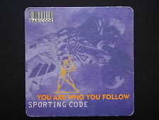 HAHN ICE BEER ROLL THE DICE AND BREAK THE ICE YOU ARE WHO YOU FOLLOW COASTER