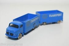 LEGO MERCEDES BENZ TRUCK WITH TRAILER BLUE NEAR MINT CONDITION