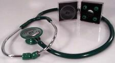 Stethoscope - Hunter Green with Matching Bling Chest-piece - Deluxe Lite