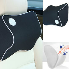 Memory Foam Black Neck Support Cushion Pillow Home Car Auto Office Seat Chair