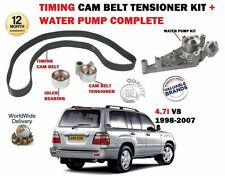 FOR TOYOTA LANDCRUISER 4.7 V8 1998-  TIMING CAM BELT TENSIONER KIT + WATER PUMP