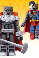 DC Direct Universe MiniMates 4 Steel & Cyborg Superman Mini Figure 2pk Toys