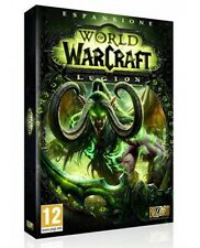 WORLD OF WARCRAFT LEGION (PC) NUOVO NEW VERSIONE ITALIANA