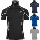 Mens Compression Base Layer Short SleeveS Armour Under Shirt Skin Body Tight Top