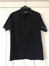 Moto Camisa Negra Talla Pequeña con detalle de la manga