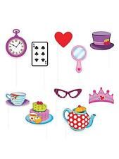 PHOTO BOOTH SELFIE CARD PROPS ALICE IN WONDERLAND KIT Fancy Dress Costume Party