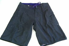 "New Mens 28 DC Shoes ""TC"" Black Purple Surf Swim Board Shorts $44 Dual Pockets"