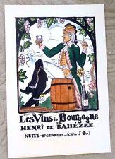 VINTAGE POSTER WINE LES VINS DE BOURGOGNE DE HENRI DE BAHEZRE NUITS 1991