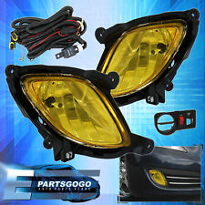 FOR 10-12 HYUNDAI GENESIS COUPE KDM BUMPER DRIVING  FOG LIGHTS HARNESS YELLOW