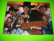 Data East MAVERICK Original 1994 NOS Pinball Machine Translite Art Mel Gibson