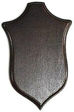 TROPHY SHIELD PLAQUE PLATE ROE BUCK STALKING OAK wood WALL HANGING HORN PLATE