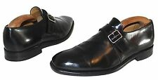 Charles Tyrwhitt Size UK 8.5 F Black Leather Legend Monkstrap Fastening Shoes