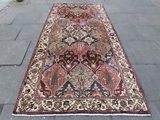 Old Shabby Chic Traditional Hand Made Persian Oriental Wool Pink Rug 306x156cm