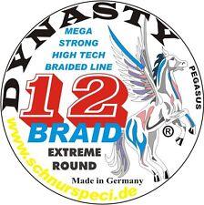 12-Braid Dynasty 1000m Geflecht geflochtene Wallerschnur Meeresschnur 1m/0,179€