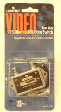 Leviton Two Way Video ** ANTENNA CABLE TV SWITCH **  75 - 300 Ohm Coaxial C5102