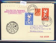 51413) KLM Polar FF Amsterdam - Tokio 1.11.58, Italien reply card via Brüssel