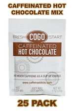 COGO CAFFEINATED HOT CHOCOLATE COCOA MIX WITH CAFFEINE - 25 PACKS