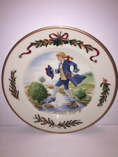 """Royal Gallery ALL THE DAYS OF CHRISTMAS 10 Lords A Leaping Dessert Plate, 8 1/4"""""""