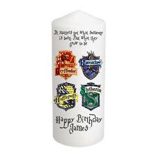 Personalised Harry Potter Candle Birthday Gift Keepsake 18 21 30 etc