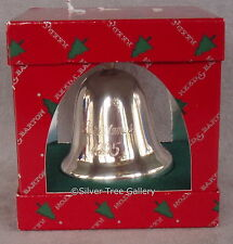 MIB 1995 Reed Barton Silver Xmas Ornament Engraved Traditional Bell Decoration