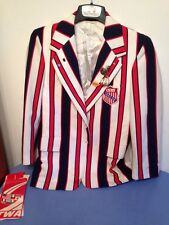 Awesome Retro Uncle Sam Style Blazer 1975 Roller Skating Worlds Coaching W/ Pins