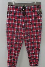 Disney Luxe Womans Lounge PANTS Soft Fleece Mickey Mouse Multi Plaid Plus 3X NWT