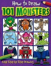 How to Draw 101 Monsters: Easy Step-by-step Drawing How to draw