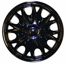 "WT4 Universal TOYOTA AURIS 14"" Inch Wheel Trims Hup Cap BLACK"