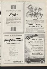 1919 ADVERT CAR HUMBER WOOD-MILNE MOTOR TYRES ARROL JOHNSTON WILLYS OVERLAND