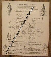 Article 17e corps d'armée,carte Toulouse,Fabre,Roger de Beauvoir   1896