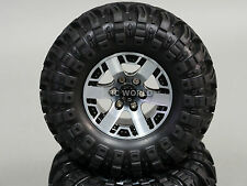 RC 1/10 Scale Truck Rims Wheel 2.2 ROCK CRAWLER BEADLOCK Wheels + Tires